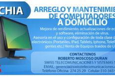 Mantenimiento de Computadores Domicilio Chía, Bogotá, Sabana