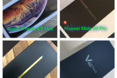 iPhone XS Max y Huawei Mate 20 Pro y Samsung Note 9 y LG V40 ThinQ