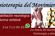 Fisioterapia del Movimiento Columna vertebral Secuelas neurológicas Rehabilitación Terapia física Fisioterapeutas a domicilio Consultorios Centros Clínicas en Bogotá