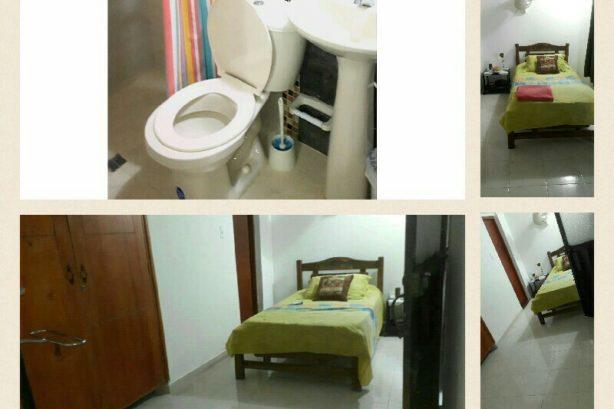 Arriendo habitacion amoblada sin alimentacion en conjunto residencial en manga