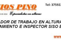 Acompañamiento e inspector SISO en obra, Coordinador de trabajo en alturas en Cali