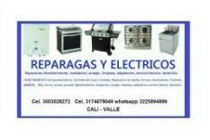 Cali,Reparación de estufas, hornos, calentadores cel 3225894899