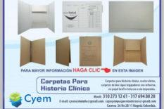CARPETAS PARA ARCHIVO DE HISTORIA CLÍNICA EN PROPALCOTE DESACIFICADO