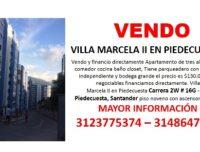Villa marcela 2 en Piedecuesta Área 61,3 mts2