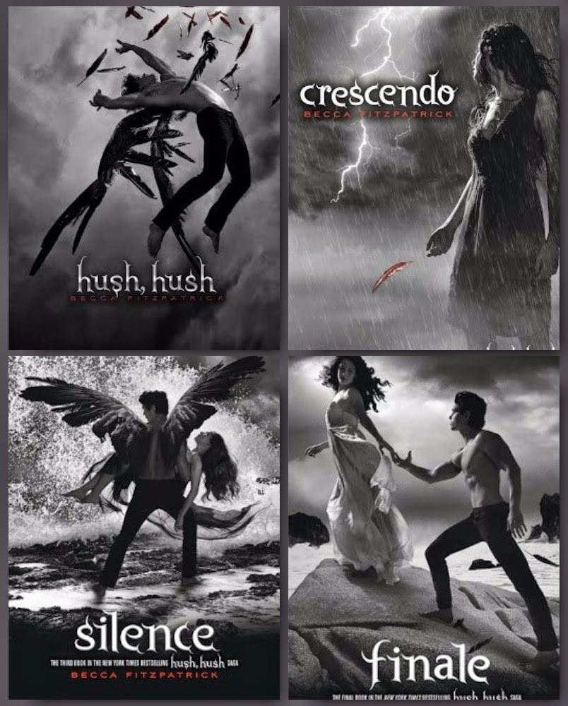 Se vende la saga «Hush Hush» de Becca Fitzpatrick (Hush, Hush + Crescendo + Silence + Finale)