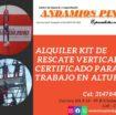 Alquiler kit de descenso y rescate certificado para trabajo en alturas en Cali